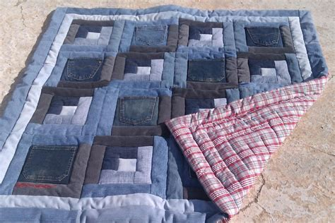 blue jean quilt you to see baby quilt log cabin pocket blue jean by