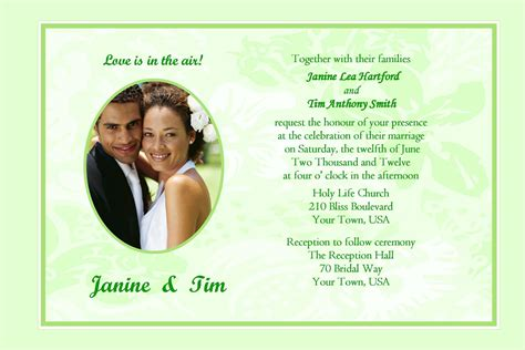 sample wedding invitation cards wedding invitations