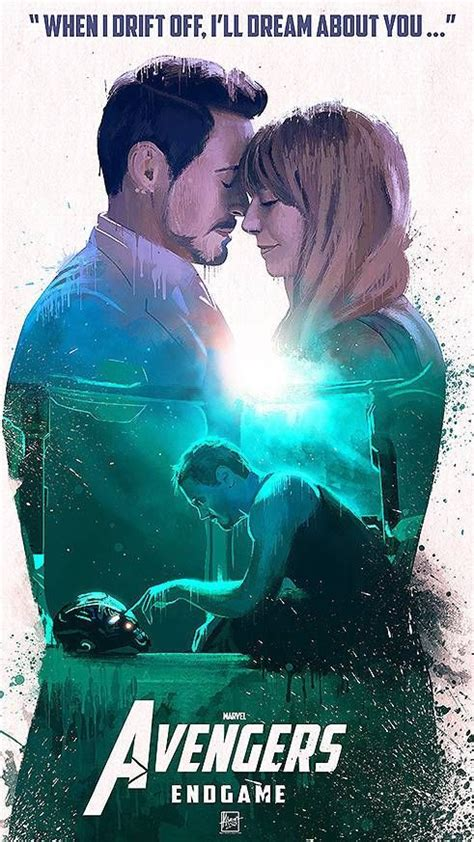 tony stark  pepper potts avengers endgame iphone