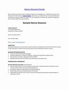 babysitter resume sample template learnhowtoloseweightnet With cover letter for a nanny position with no experience