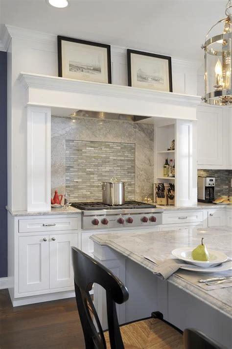 alpine white granite transitional kitchen sherwin