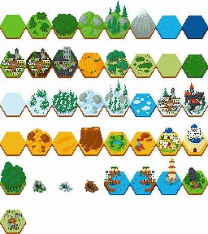 Hex Tiles Fantasy Tile Terrain Map Maps