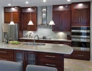 river white granite with cherry cabinets kitchen design