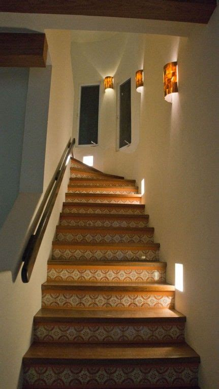 stairwell sconce isla house rental gorgeous stairway with solid