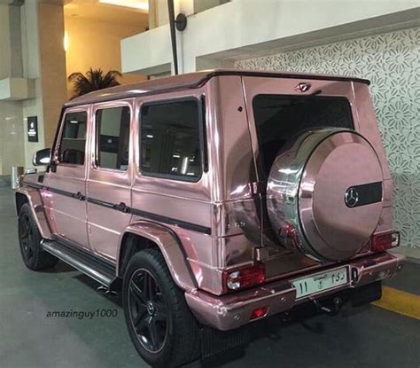jeep mercedes rose gold rose gold mercedes g wagon luxury cars pinterest