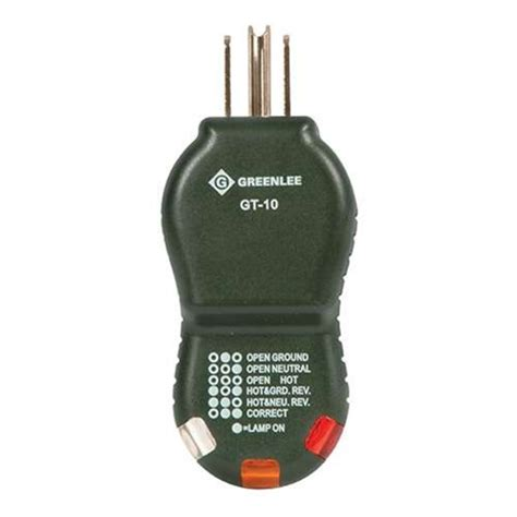 Greenlee Outlet Circuit Tester With Polarity