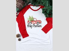 Merry Christmas Tree Baseball TShirt Fairyseason