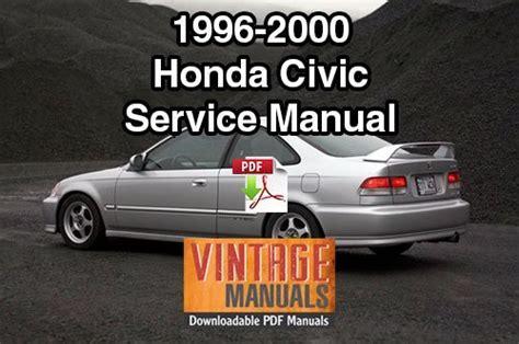old cars and repair manuals free 2012 honda cr z head up display 1996 2000 honda civic repair service manual vintagemanuals