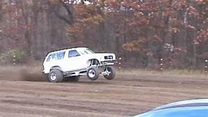 Fast Truck Doing Wheelies Without Wheelie Bars