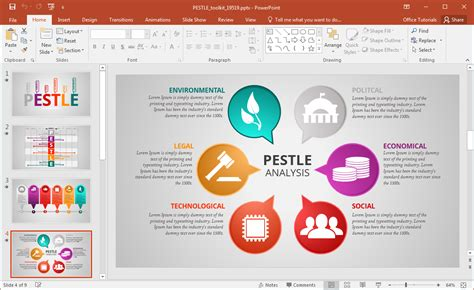 animated pestle analisi modello presentazione  powerpoint