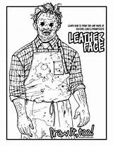 Leatherface Chainsaw Drawing Texas Massacre Draw Coloring Tutorial Too Drawittoo sketch template