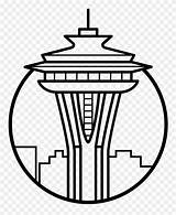 Needle Space Pinclipart Icon Seattle Clipart Coloring sketch template