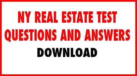 ny real estate test questions and answers