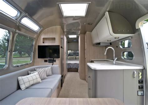 living    airstream globetrotter travel trailer