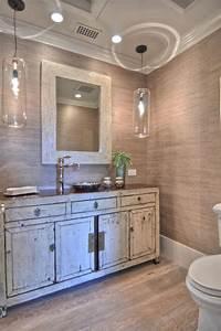 bahtroom old vanity design under nice mirror edge model With pendant lights over bathroom vanity