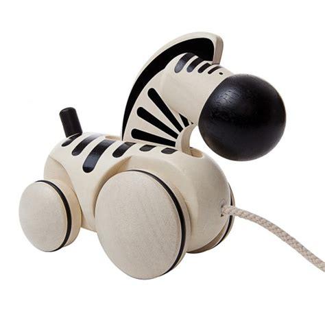 plan toys pull along zebra thetot