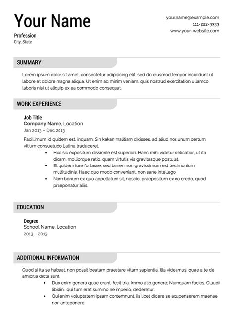 Free Professional Resume Templates by Free Resume Templates