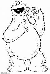 Cookie Monster Coloring Cookies Eating Printable Cool2bkids sketch template