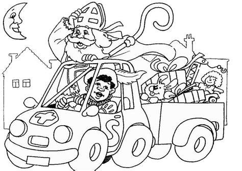 Sinterklaas En Zwartepiet Kleurplaat by Sinterklaas En Zwarte Piet Kleurplaten Animaatjes Nl