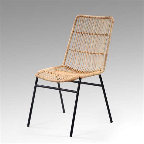 chaise kubu chaise kubu rotin et métal tressé marron boléro