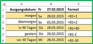 Excel Formeln Automatisch Berechnen : excel einfach neues datum berechnen ~ Themetempest.com Abrechnung