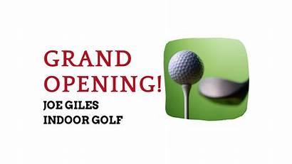 Indoor Opening Grand Golf Joe Giles Denison
