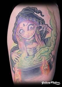 Fantasy Witch Tattoo By Golem Tattoo