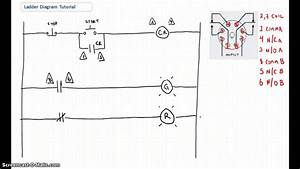 ladder diagram basics 1 youtube With boat electrical wiring diagrams for dummies step 2 draw a simple