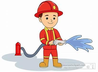 Fireman Firefighter Clipart Fire Firemen Fighter Clip