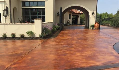 stained driveway ideas concrete driveway stained designs ideas concrete craft
