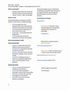 Summary Psychological Science - Chapter 1-6