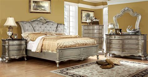 Johara Gold Upholstered Bedroom Set from Furniture of