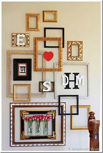 Diy photo wall ideas without frames : Picture frame gallery wall with a valentine surprise in
