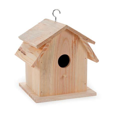 Decorative Bird House: Barn Style Unfinished Wood Bird House