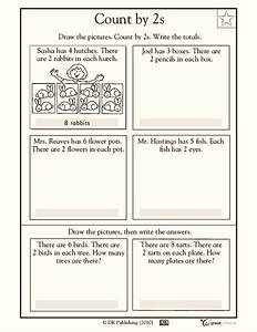 Visualizing Skip Counting By 2 Worksheet For 1st Grade