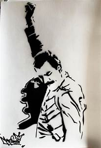 freddie mercury stencil - Google Search | Freddie mercury ...