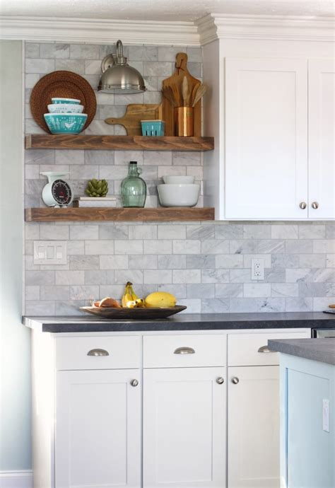 install floating kitchen shelves   tile
