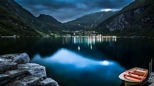 3840x2160, Mountain, Lake, Beautiful, Night, 4k, Hd, 4k