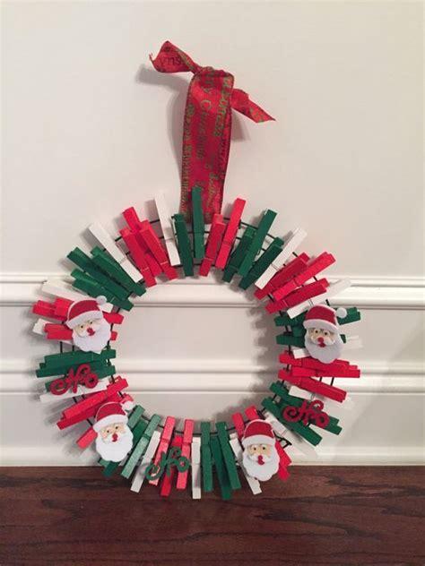 corona de navidad  pinzas  ropa dale detalles