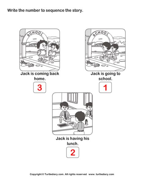 Story Sequencing Routine Of Jack Worksheet  Turtle Diary