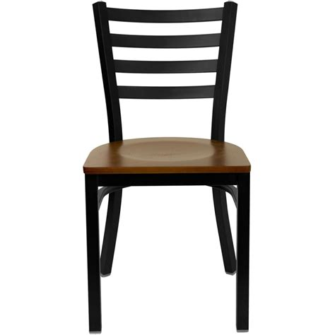 bettina iron metal side chair cherry wood seat