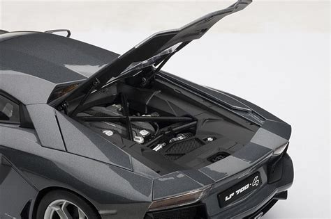lamborghini aventador metallic grey autoart lamborghini aventador lp700 4 grigio estoque