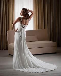 loose comfortable column halter flowers chiffon sweep With comfortable wedding dress