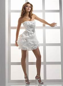strapless wedding dresses dressed up girl With wedding dress short
