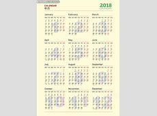 2018狗年日历表图片下载年历日历百图汇素材网