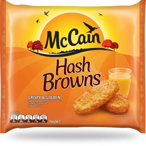 hash browns 750g frozen food vegetables chips pizza