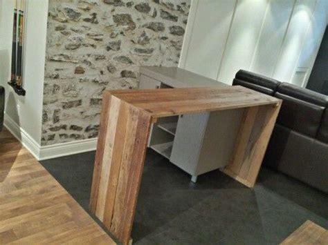 fabriquer un comptoir de cuisine en bois comptoir bar en bois de grange conception et fabrication
