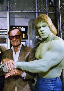 Stan Lee with Lou Ferrigno as the Hulk - Stan Lee is the ...