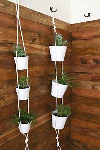 indoor hanging planters 20 DIY Projects Featuring Rope Crafts