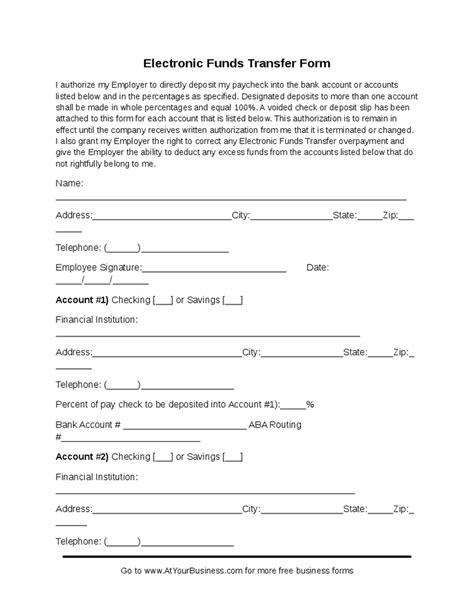 27 images of eft payment authorization form template